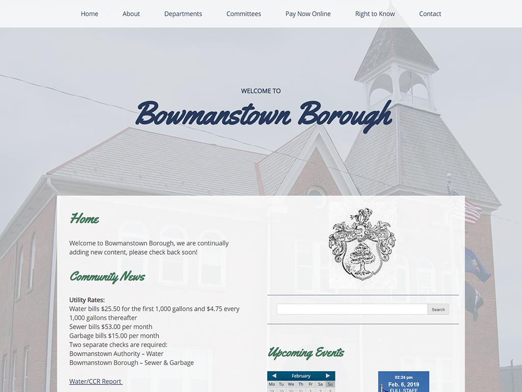 Bowmanstown Website
