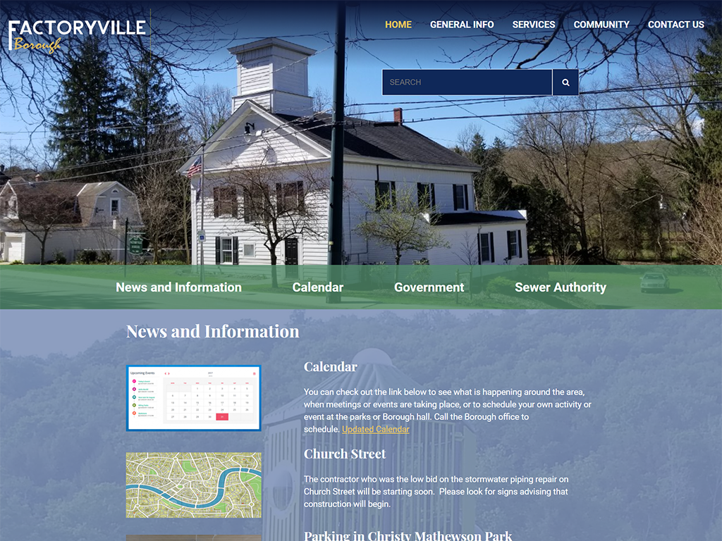 Factoryville Website Redesign
