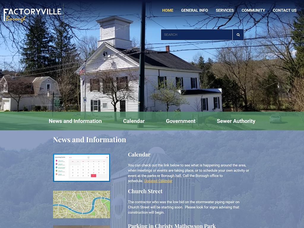 Factoryville Website Redesign