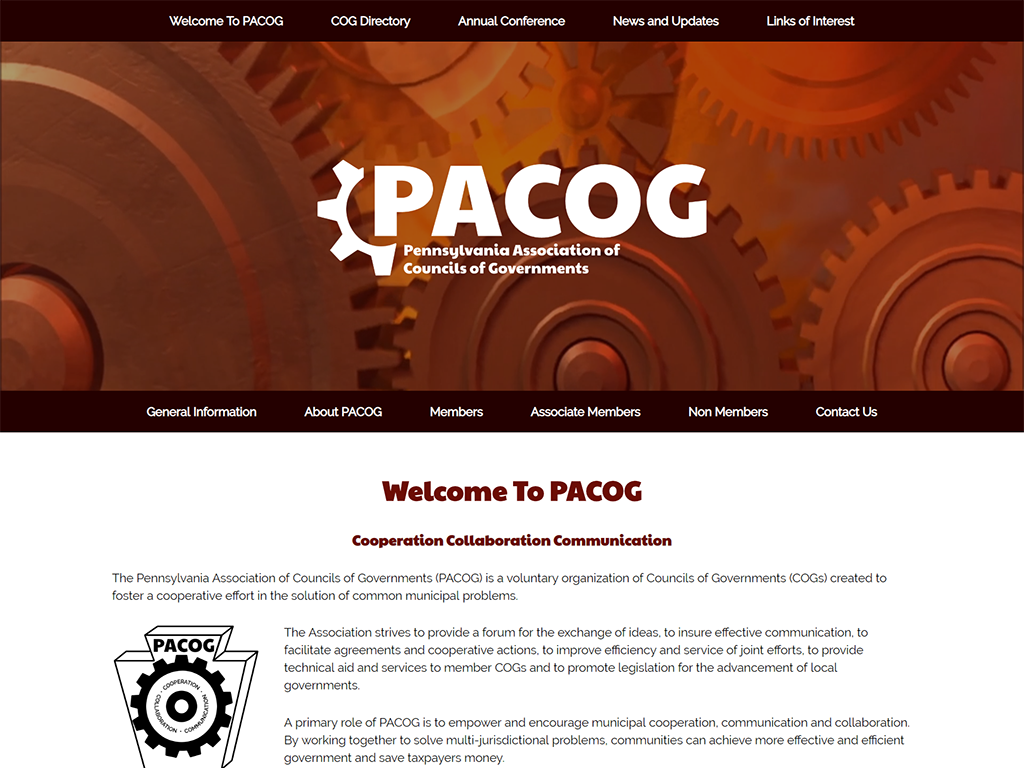 PACOG website redesign