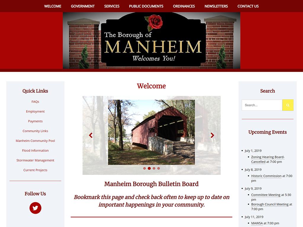 Manheim Borough Website Redesign