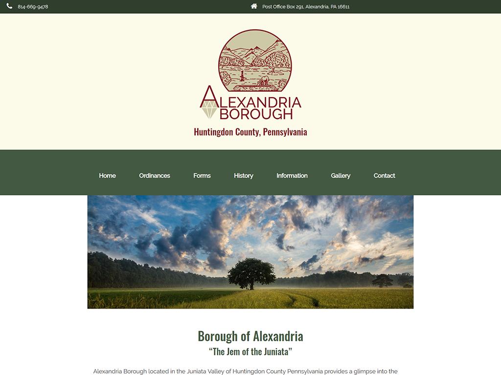 Alexandria Borough Website and Logo Design