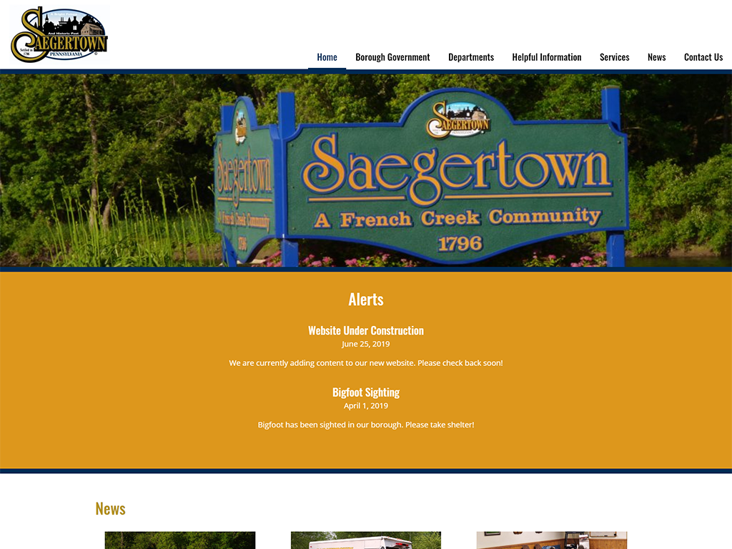 Saegertown Borough Website