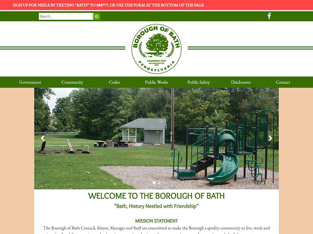 Bath Borough Website