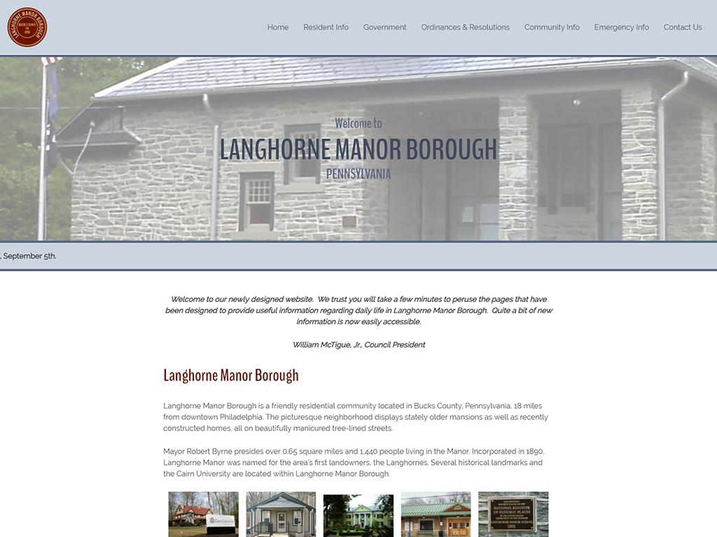 Langhorne Manor Website Redesign