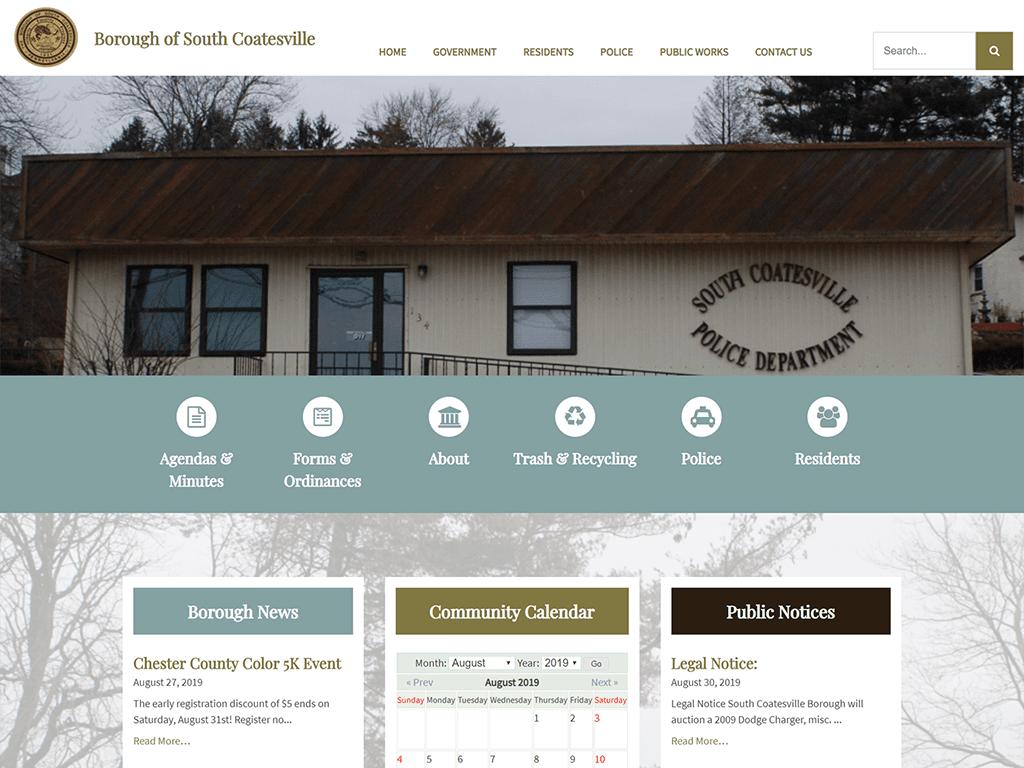 Borough of South Coatesville Website designed by PSAB Web Design Program