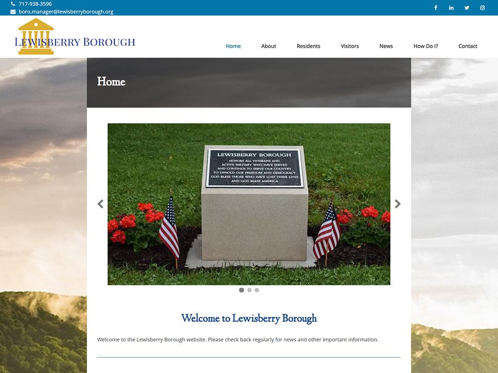 Lewisberry Borough Website Redesign