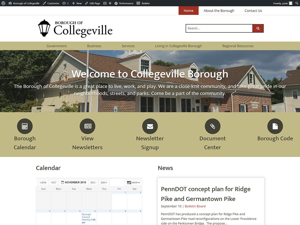 Collegeville Borough Website Design
