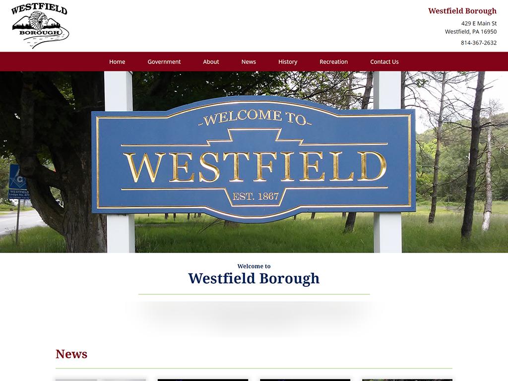 westfield borough website