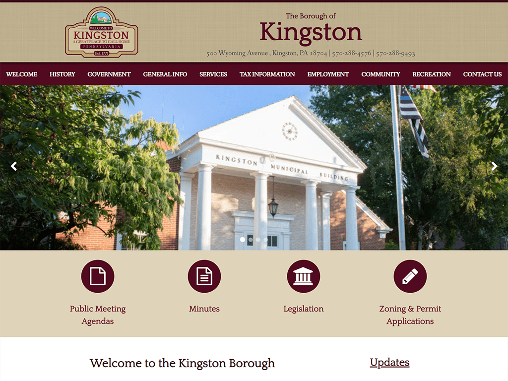 Kingston Borough Website designed by PSAB Web Design Program