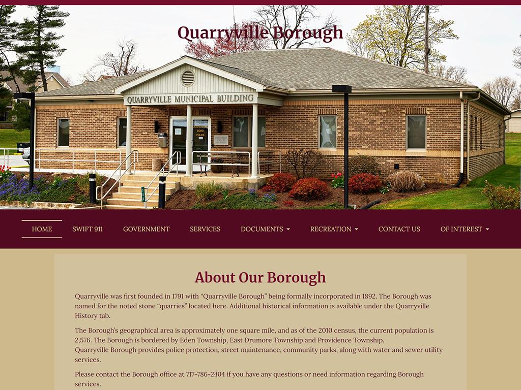 Quarryville Borough Website Redesign