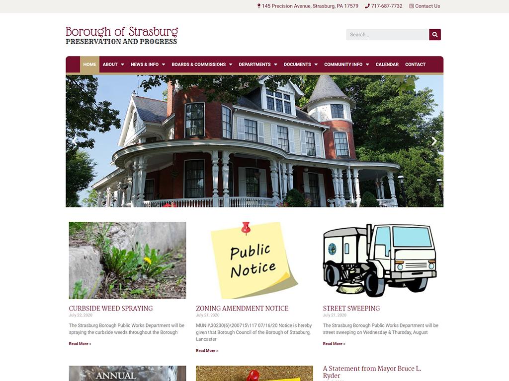 strasburgboro website